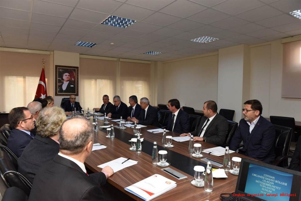 Vali Demirtaş'ın Başkanlığında Ceyhan OSB Toplantısı Gerçekleştirildi